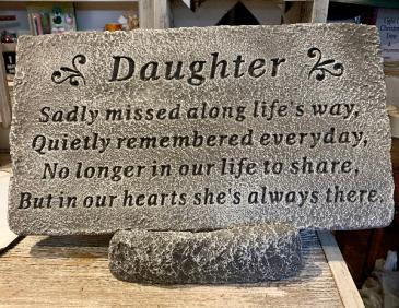 Daughter Memorial Stone Memorial Stone