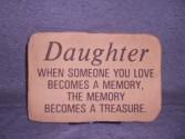 Daughter Sympathy Stone Sympathy