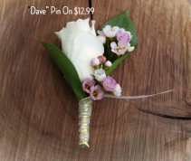 Dave Pin-On Boutonniere