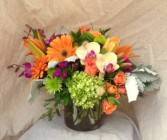 Day Glow Arrangement Vased Arrangement Semi-Compact