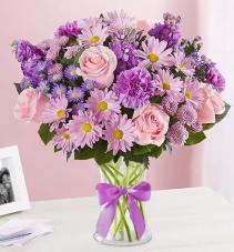 Daydream Bouquet™ in a Clear Vase Arrangement