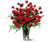 Teleflora's Dazzling 3 Dozen Red Roses Vased Arrangement