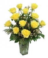 Dazzling Dozen Yellow Roses