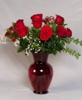 Radiant Ruby Roses 18 RED ROSES
