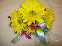 Dazzling Sunshine Prom Corsage