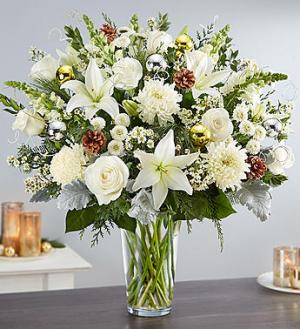 Dazzling Winter Wonderland Arrangement in Croton On Hudson, NY | Cooke's Little Shoppe Of Flowers