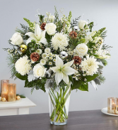 Dazzling Winter Wonderland Flower Arrangement  Vase Arrangement