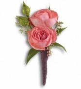 Dble Mini Roses Bouttonniere