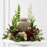 DCW364  Cremation Urn Wreath (seasonal flowers)