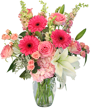 Dearest Treasure Vase Arrangement  in Milford, MI | BLOSSOMS ON MAIN