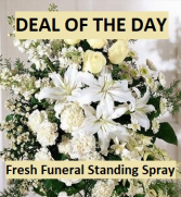Deal of the Day Fresh Funeral Standing Spray