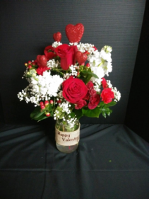 Deal of the Day Fresh mix in a Valentine decor Mason Jar