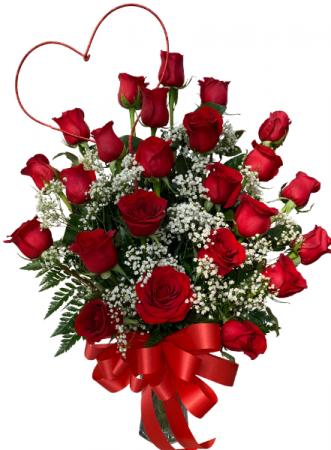 Dear Darling  Two Dozen Rose Vase