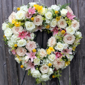 Dear Love Open Heart Wreath