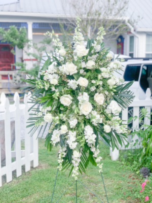 Dearly Departed Standing Spray Sympathy  in Bay Saint Louis, MS | The French Potager