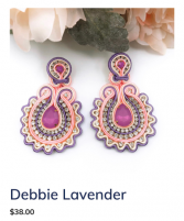 Debbie Lavender Earrings