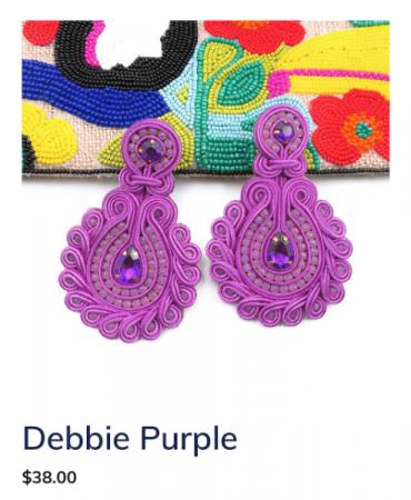 Debbie Purple Earrings