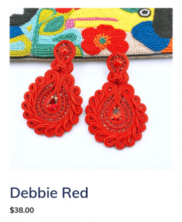 Debbie Red Earrings