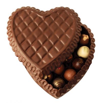 DeBrand Fine Chocolate Heart Box with Truffles   Exclusive Luxury Gift