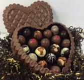 DeBrand Premium Milk Chocolate Heart Box Filled With Truffles