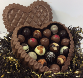 DeBrand premium milk chocolate heart Box Filled With Truffles