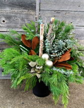 Deck The Halls the Outdoor Planter Pots Christmas