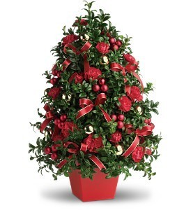 Deck the Hall Tree Holiday Bouquet