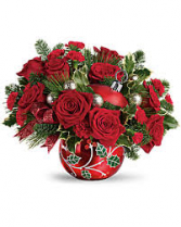 Deck The Holly Ornament Bouquet Christmas Keepsake Arrangement