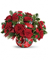 Deck the Holly Ornament Bouquet  Christmas Ornament Ball