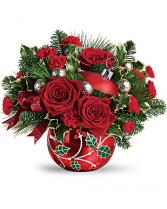 Deck the Holly  Ornament floral arrangement