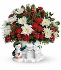 Deck the Igloo Keepsake Evergreen Bouquet