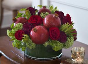 Decked Out  Centrepiece  in Oakville, ON | ANN'S FLOWER BOUTIQUE-Wedding & Event Florist
