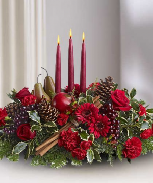 Decked The Halls  Christmas Centrepieces  in Oakville, ON | ANN'S FLOWER BOUTIQUE-Wedding & Event Florist