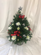 Decorated Boxwood tree Christmas