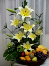 Decorated Fruits  Basket