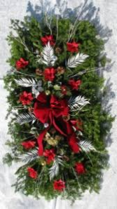 DECORATED GRAVE BLANKET christmas blanket