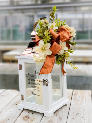 Decorated lantern with Script  in Warsaw, IN   ANDERSON FLORIST & GREENHOUSE