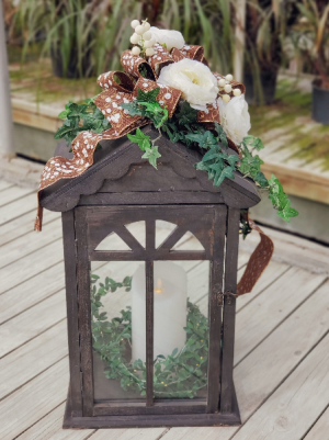 Decorated Large Wooden Lantern  in Warsaw, IN | ANDERSON FLORIST & GREENHOUSE