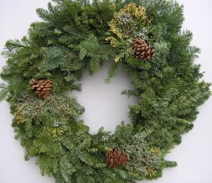 Decorated Noble Wreath Christmas Wreath in Cincinnati, OH | Hyde Park Floral & Garden