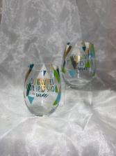 Decorative Wine Glasses
