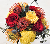 Deep Autumn Vase Arrangement