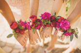 Deep pinks Prom corsage