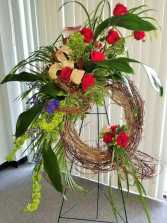 Deep Sentiments Funeral Wreath