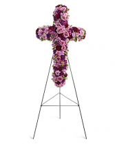 Deepest Faith Cross Funeral Flowers