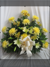 Deepest Sympathy Fresh Funeral Basket