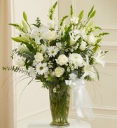 Deepest Sympathy  Vase of Fresh flowers