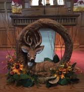Deer resting centerpeice