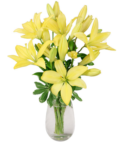 Del Sol Lily Bouquet In Lompoc Ca Bella Florist And Gifts