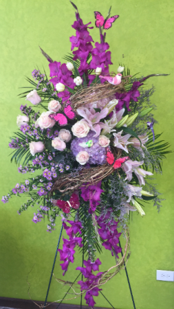 Delicate Dreams Sympathy Sprays in Milton, FL | PURPLE TULIP FLORIST INC.