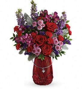 Delicate Heart              T18V105 Keepsake Floral Arrangement